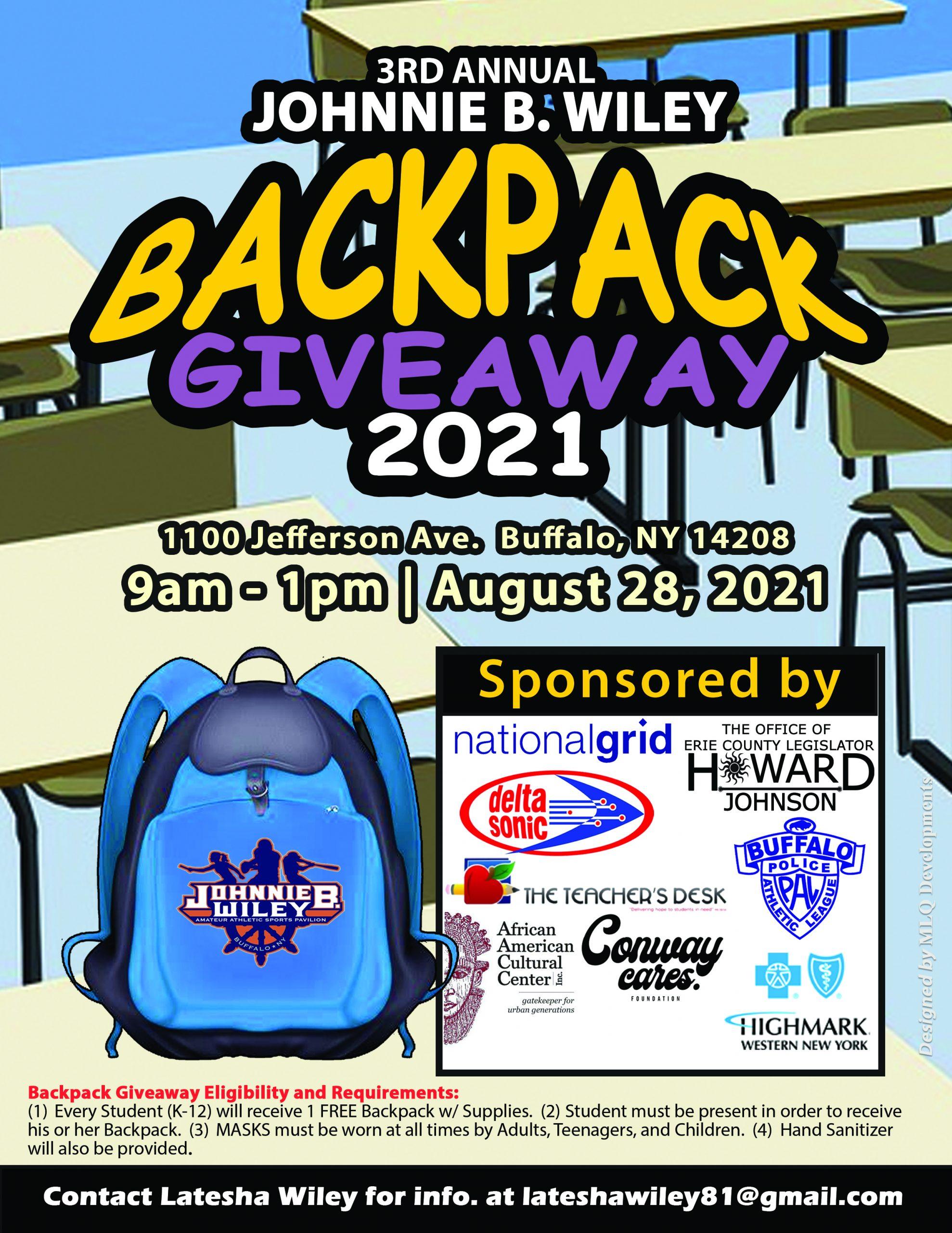 Backpack Giveaway Promotional Flyer